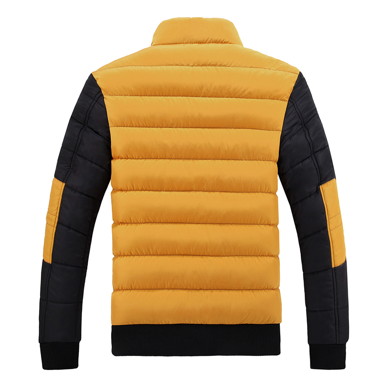 2019 New Snow Winter Coat Men Cotton Thickening Cold Stand Collar Fleece Warm Parkas Jacket Mens Casual Hot Overcoat Man WFY37