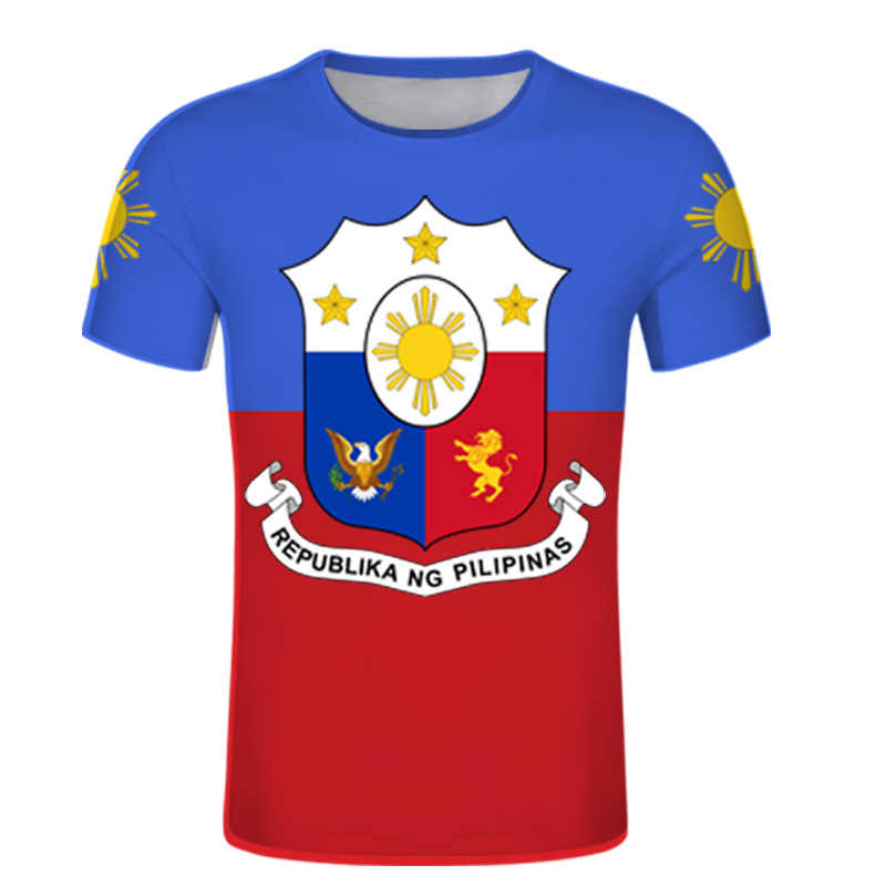 Philippinen drucken Name t hemd DIY filipino Nation Flagge Republik Philipinas druck foto jersey paar sport kleidung