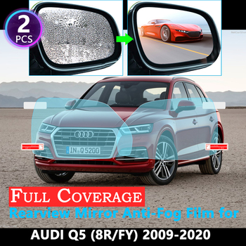 Full Cover Protective Anti-Fog Film for Audi Q5 8R FY 2009~2020 Car Rearview Mirror Rainproof films Accessories 2019 2018 2017 image
