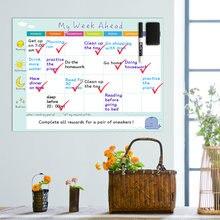 Магнитный календарь ежедневное расписание белая доска ежемесячный