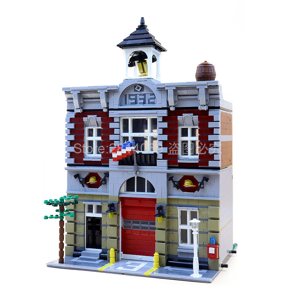 15004 2313Pcs City Street View Series Fire Brigade Model Building Brick Compatible <font><b>10197</b></font> Children's Toys Gifts image