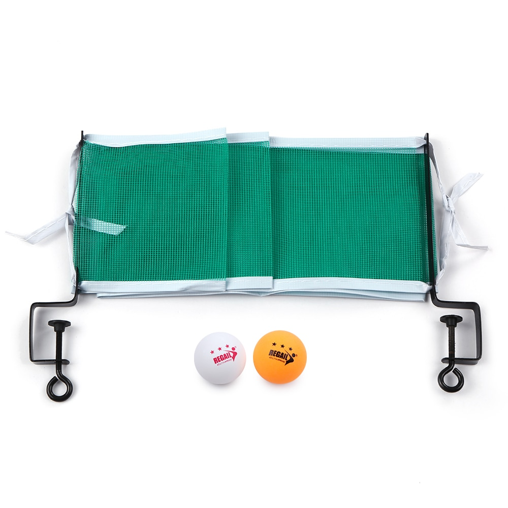 High Quality Professional Table Tennis Table Net With 2 Ping Pong Balls Posts Ping Pong Strong Mesh Net