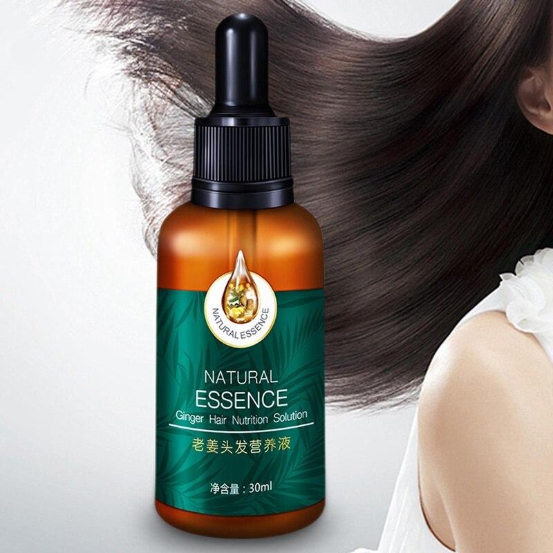 Сывороточная эссенция для роста волос имбиря против выпадения волос алопеция жидкость восстановление поврежденных волос быстрее растет