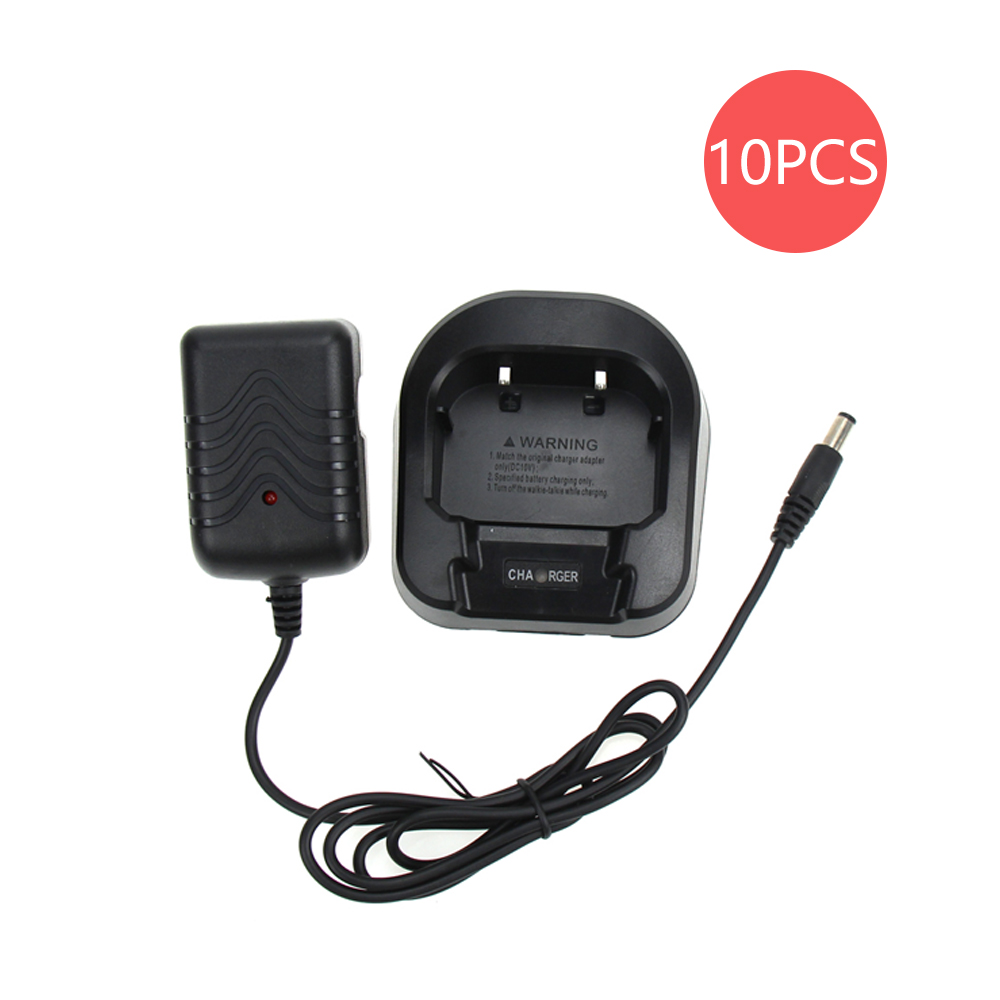 10X Baofeng Desktop Charger And Adapter For Baofeng Two Way Radio UV-82 UV-82L UV-8D UV-82HP UV-82hx Walkie Talkie