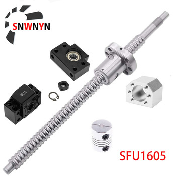 цена на SFU1605 Set Rolled Ball Screw SFU1605 C7 With End Machined +Ballnut + Nut Housing+BK/BF12 End Support + Coupler RM1605 Ballscrew