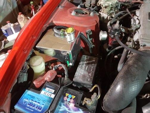 240SX S13 SR20DET KA24DE KA24E KA24 Aluminum Coolant Overflow Tank Reservoir Kit