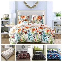 3 size 5 styles bedding set Floral Printed Soft Brushed Microfiber Duvet Cover Set Comforter Cover with Pillow Cover