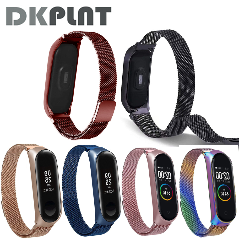 Magnet-Strap Bracelet Stainless-Steel-Strap Mi-Band Metal Milanese Xiaomi for 4 4-3 title=