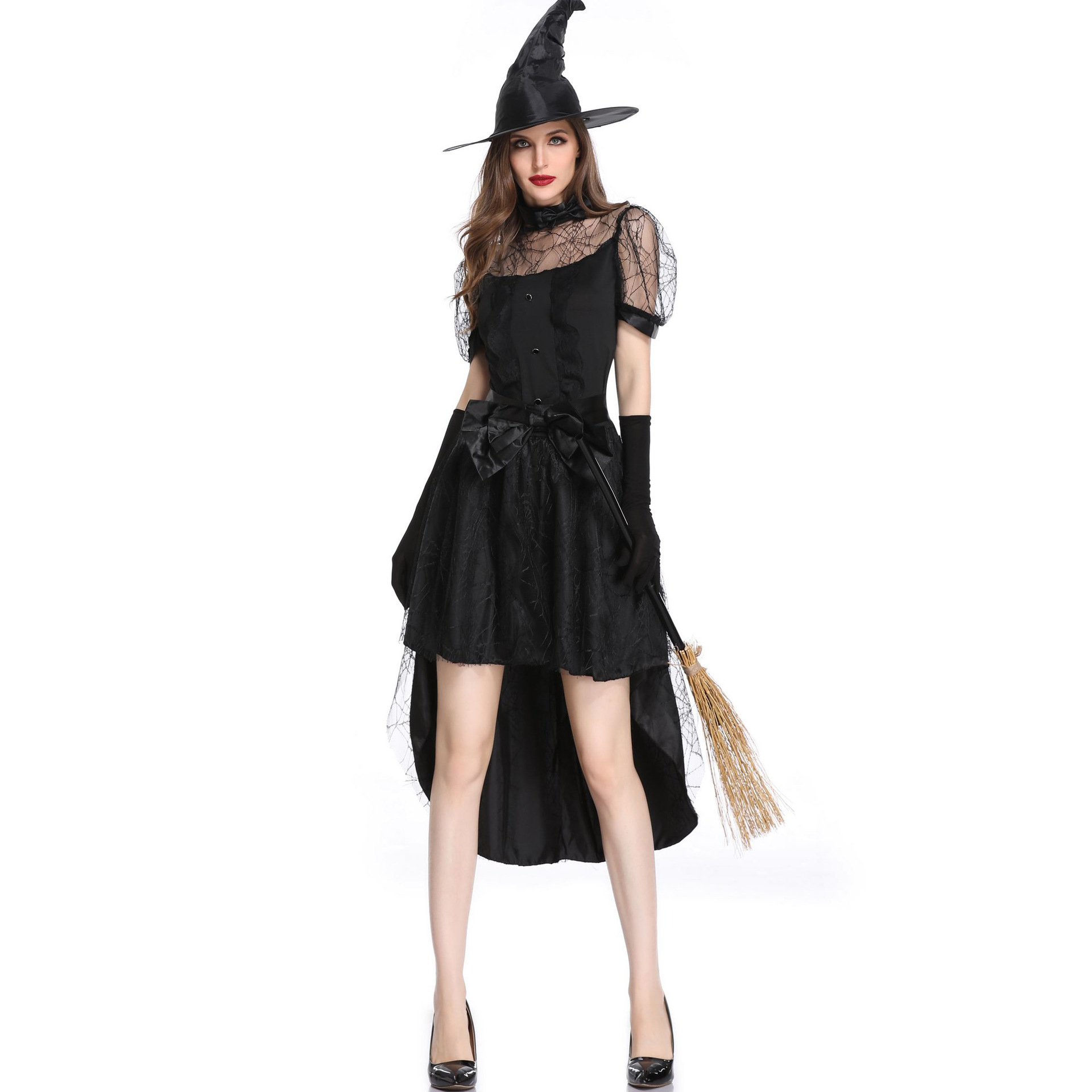 Dancing Stage Costumes <font><b>Halloween</b></font> <font><b>Sexy</b></font> Hollow Gauze Costume <font><b>Adult</b></font> Cosplay <font><b>Witch</b></font> Suit Devil Villain Performance Costume Sportswear image