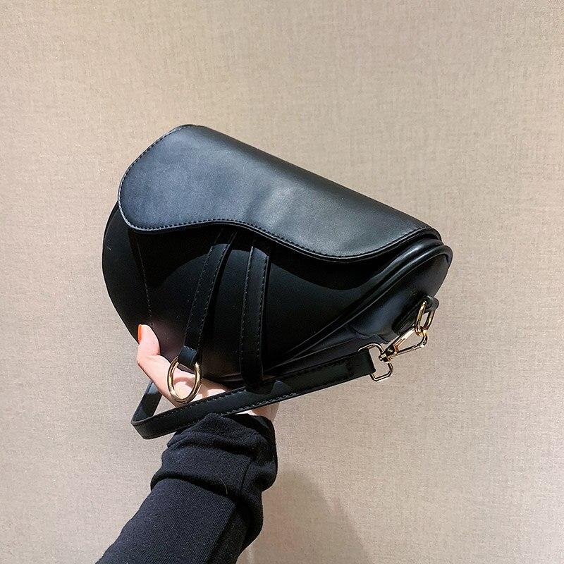 OLSITTI однотонные модные сумки через плечо для женщин 2020 дизайнерские дамские седельные сумки из искусственной кожи сумка на плечо для путеше...