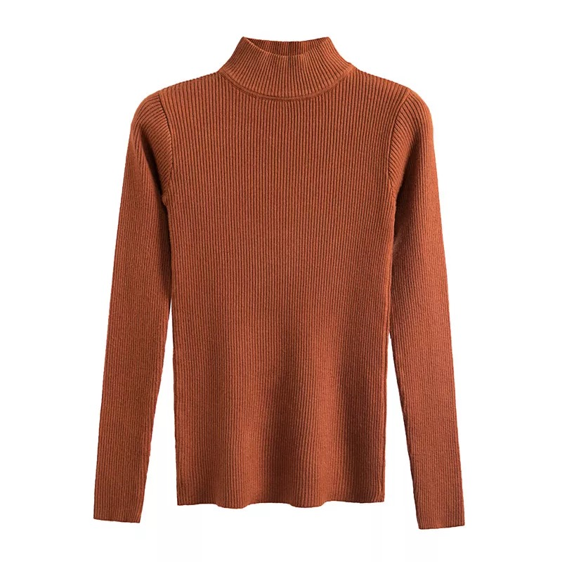 Marwin New-coming Autumn Winter Turtleneck Pullovers Sweaters Primer shirt long sleeve Short Korean Slim-fit tight sweater 5