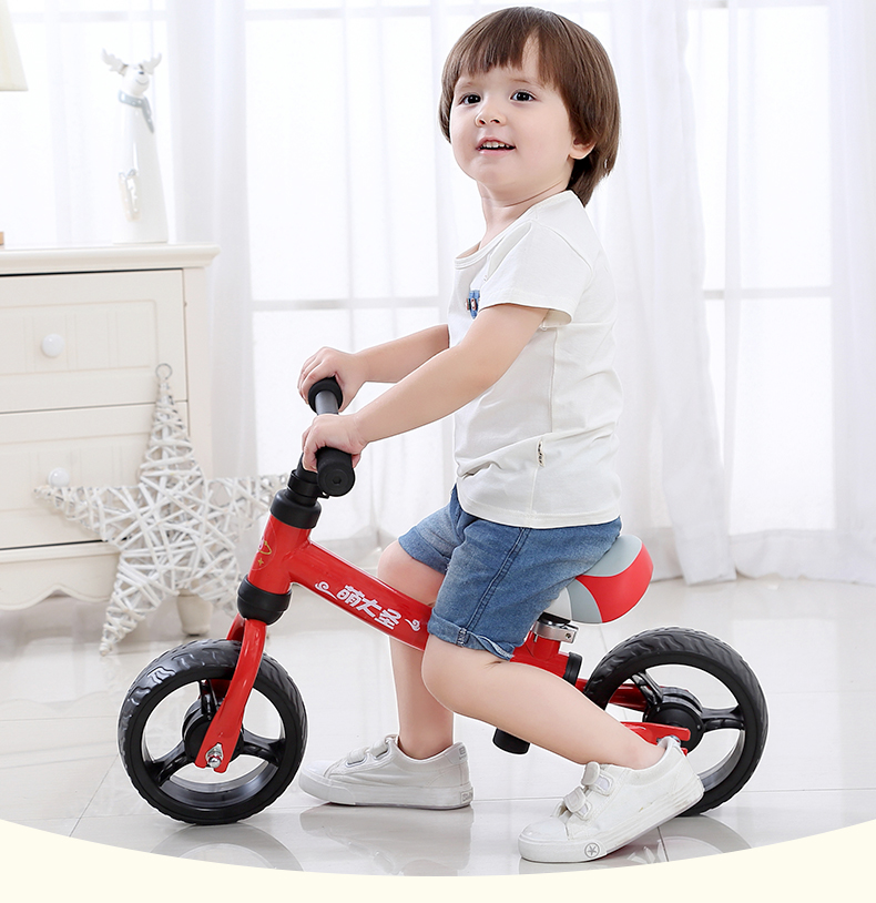 H949459bca9494235acdd18551fd7fdfbI Montasen Children  Push Bike  for 1.5- 3 Year Old Kids High Carbon Frame Balance Cycle for Boy Girls to Walk  Mini Push Bicycle