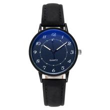 Klasyczne damskie na co dzień skóra Quartz pasek pasek zegarka okrągły zegar analogowy na rękę zegarki świetliste dłonie na rękę zegar wodoodporny tanie tanio HEZHUKEJI Klamra CN (pochodzenie) Ze stopu 3Bar Moda casual 16mm ROUND Odporne na wodę luminous hands Szkło E0059 23 5cm