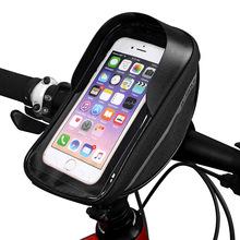 6 3 Cal torby rowerowe z ekranem dotykowym torba rowerowa MTB na rower główka ramy kierownica rowerowa uchwyt do telefonu komórkowego etui na telefon do roweru tanie tanio CN (pochodzenie) Other odporne na deszcz 15127 Red Blue Black Gray 18 5cm*9 5cm*8 5cm Accept Dropshipping Wholesale AliExpress Standard Shipping