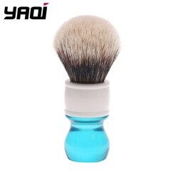 Yaqi 24mm Aqua dos banda de pelo de tejón brocha de afeitar