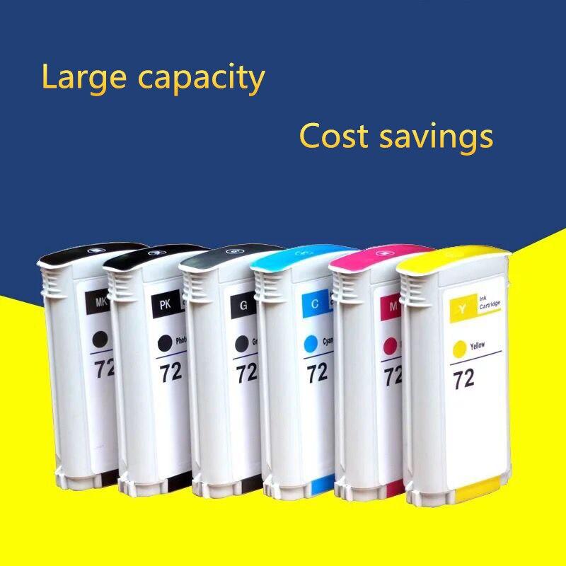 Cartuccia di stampa perfetta sostituire per HP 72 pieno 6 inchiostro a colori Per HP Designjet T610 T620 T770 T790 T795 T1100 t1120 T1200 T1300