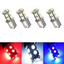 4 шт. 1156 BA15S 13 SMD P21W R5W R10W светодиодный лампы для автомобиля Белый светодиодный фонарь для поворота сигнала заднего хода автомобильный фонарь ...