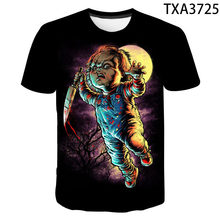 2020 New Arrival Horror Movie Child of Play Character Chucky 3D Printed Men Women Children T-shirt Summer Casual Tops Cool Tees(China)
