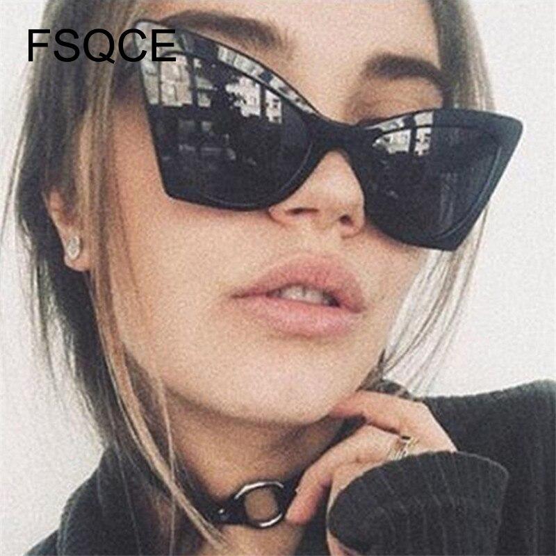 Glasses Women Gothic Fashion Cat Eye Sunglasses Casual Ladies CatEye Retro Vintage Sun Glasses UV400 Nicki Minaj  Clout Goggles