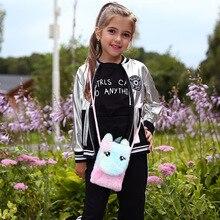 Coin-Purse Handbag Crossbody-Bags Toddler Girls Cartoon Messenger-Bag Plush Baby Mini