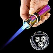 Jobon тройной фонарь Зажигалка Ветрозащитная газовая кремневая