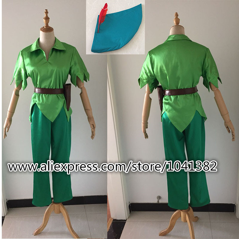 NEW Peter Pan Green Fancy Cosplay Costume Custom Made