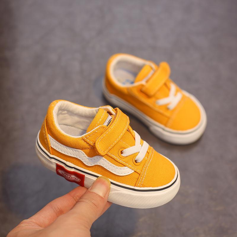 Babaya Baby Shoes Soft Bottom Boy Casual Shoes 1-12 Years Old 2021 Autumn Children Canvas Shoes Kids Girls Walking Shoes Toddler 1