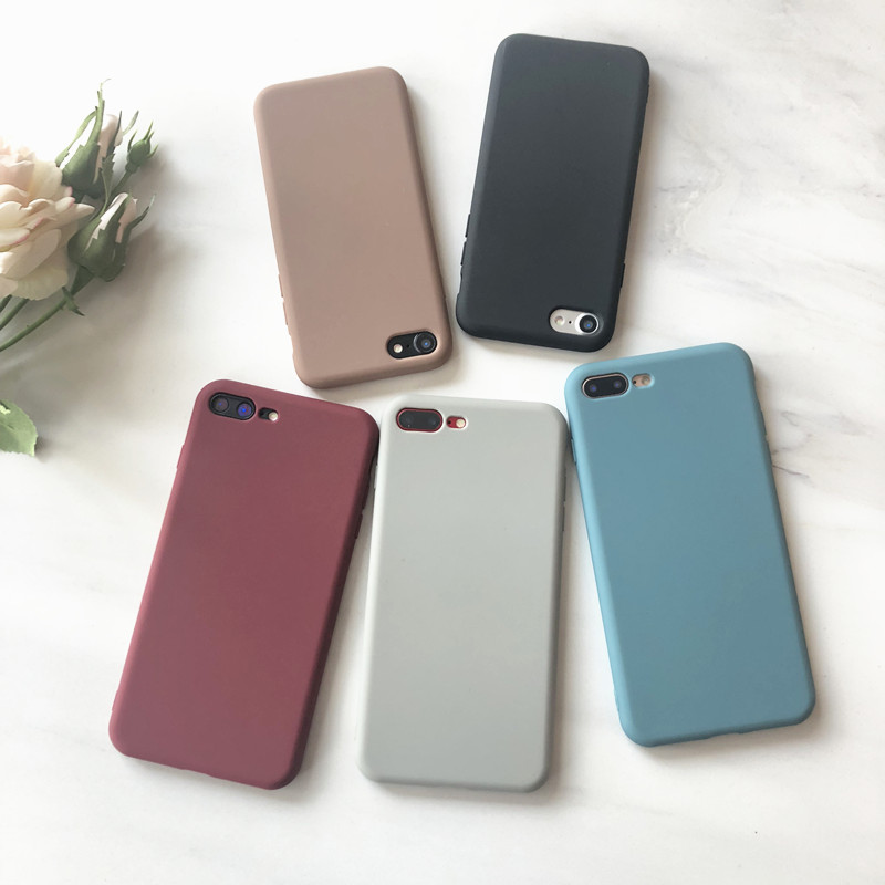 Silicone Case Solid Color Cute Plain Candy Phone Case For <font><b>Huawei</b></font> Mate 10 20 P30 P20 P10 Pro <font><b>Honor</b></font> 7X 8 8A <font><b>8X</b></font> 9 10 Soft TPU Funda image
