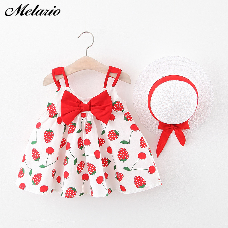 Melario Baby Toddle Dress Girls Dress Baby Girl Bow-knot Dress For Kids Dresses Pricess Dress Vestidos With Hat