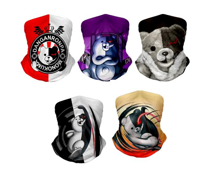 Monokuma Winter Neck Warmer For Men Women Ski Neck Gaiter Cover Face Mask Dangan Ronpa