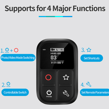 2019 New Waterproof WIFI Smart Remote Control For Gopro Hero 8 7 6 5 Black 4 3 3+ Session Camera Accessories 1