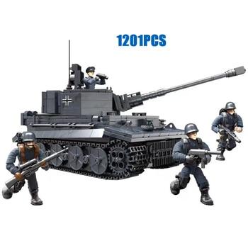 world war military germany Panzerkampfwagen VI Ausf.E Tiger I mega block ww2 army figures Sd.Kfz.181 tank bricks toys for gifts