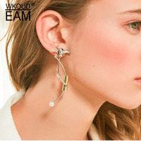 WKOUD EAM Africa Series Women Fashion Metal Giraffe Earrings 2019 New Jewelry Accessories Party Gift Серьги Pendientes ZJ601