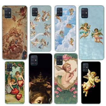 Renaissance angels Case for Samsung Galaxy A51 A71 M51 A91 A01 A11 A31 A41 M11 M21 M31 Silicone Phone Cover waves ocean water case for samsung galaxy a51 a71 m31 a41 a31 a11 a01 m51 m21 m11 m40 black soft phone cover fundas