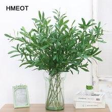 95CM Künstliche Pflanzen Grün Olive zweig Dekor für Home Gefälschte PVC Pflanzen Blatt Reben Blume zubehör gras wand rasen decor