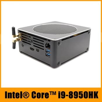 Top Quality Gaming Computer i9 8950HK Xeon E-2176M i7 8750H 6 Core 12 Threads 64GB DDR4 Nvme M.2 Nuc Mini PC Win10 Pro AC WiFi