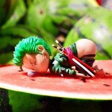 Figurine de dessin animé endormi Roronoa Zoro Luffy Ace Sabo Sanji BROOK Nami Franky Chopper en PVC, jouets daction, modèle poupée