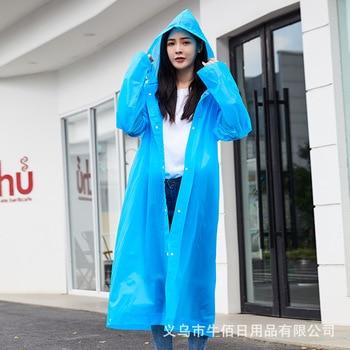 Fashion Portable Men's Raincoat Rain Coat Outdoor Women Waterproof Poncho Rain Jacket Tourism Conjoined Transparent Raincoat