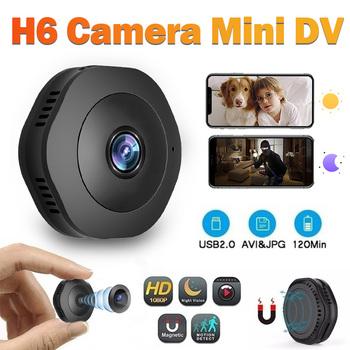 1080P Wifi Mini kamera do domowego systemu alarmowego P2P kamera WiFi noktowizor HD IP kamera WIFI Sport DV wideo czujnik ruchu kamera tanie i dobre opinie Sunydeal CN (pochodzenie) 1080 p (full hd) H6 H6Wifi Microsd tf CMOS