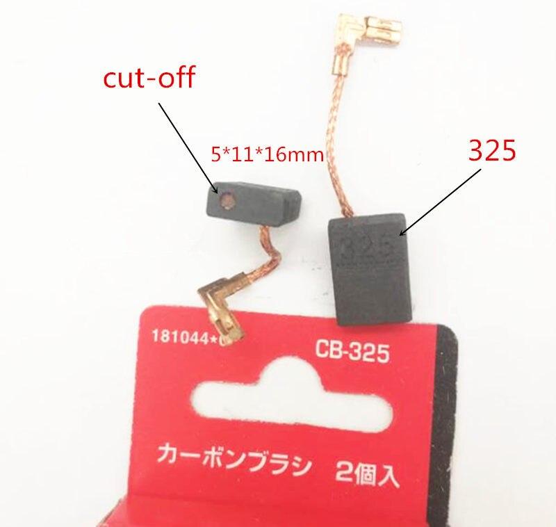 Carbon Brushes For MAKITA CB-325 CB-329 194074-2 191978-9 CB-318 /9564P/9564H/9558PB/9558NB/9557PB/9557NB/9556PB/9556NB