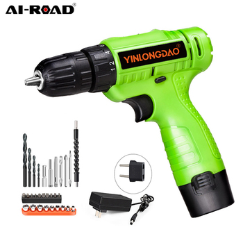 AI-ROAD 12V/18V/21V Brushless Electric Drill Cordless Screwdriver Lithium Battery Mini Power Tools Cordless Drill DIY aotuo cordless electric screwdriver lithium battery mini two speed electric drill rechargeable screwdriver home diy electrictool