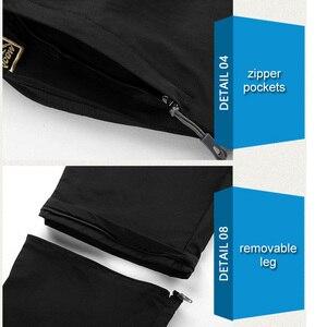Image 5 - LOMAIYI artı boyutu erkek kargo pantolon erkekler İlkbahar/yaz çıkarılabilir siyah pantolon erkek hızlı kuru pantolon erkek rahat pantolon adam AM209