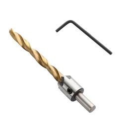 8/10mm chafán broca de acero avellanador broca trabajos de carpintería herramienta de perforación vástago redondo con llave hexagonal
