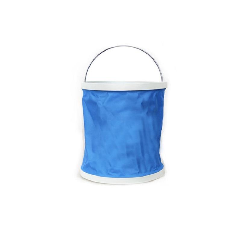 11l portatil dobravel multifuncional balde de lavagem carro engrossado balde acampamento ao ar livre balde pesca