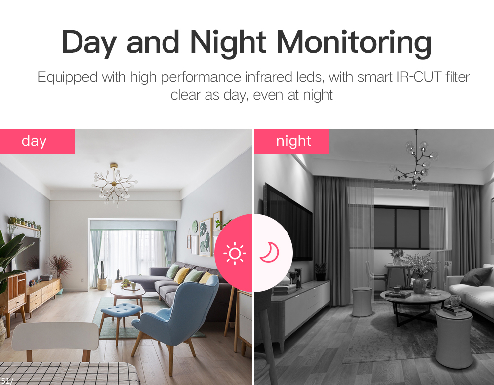 H9495b2b78454433995c60eea6c2107d0i SDETER 1080P 720P IP Camera Security Camera WiFi Wireless CCTV Camera Surveillance IR Night Vision P2P Baby Monitor Pet Camera