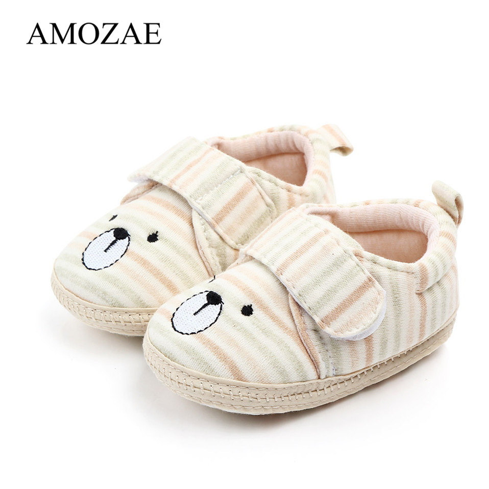Newborn Infant Baby Boy Girl Canva Soft Crib Shoes Moccasin Prewalker Sole Shoes