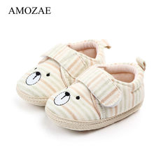 Infant Babies Boy Girl Boys Shoes Sole Soft Canvas Solid Footwear For Newborns Toddler Crib Moccasins 3 Colors Available(China)