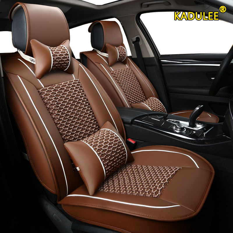 KADULEE  1pcs car seat cover For honda freed stream accord 2018 crv civic hrv 2006 2011 city 2010 fit accessories seat covers