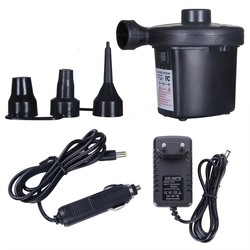 220V 12V Electric Inflatable Pump Quick Air Filling Compressor With 3 Nozzles For Car Camping Life Buoy Boat Cushion Home Use