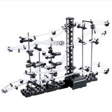 Espaço coaster spacerails brilham no escuro longo nível 3 jogo 233 diy modelo de construção com boi bola brinquedos para o estudante primário